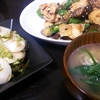 鶏むね中華炒め、かぶの漬け物、味噌汁
