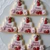 合同バースデーパーティのプチギフトクッキーに苺のケーキクッキー♡