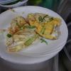 幸運な病のレシピ( 858 )昼:ピザオムレツ(アスパラガス、玉ねぎ、ピーマン、人参、パン、卵3個)、丸鶏オーブン焼き
