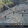 【シティーズ:スカイライン PS4】プレイ日記#8 人口36000人を突破!川の上を通る貨物ハブへの道路を作成