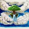 天空に浮かぶ大樹