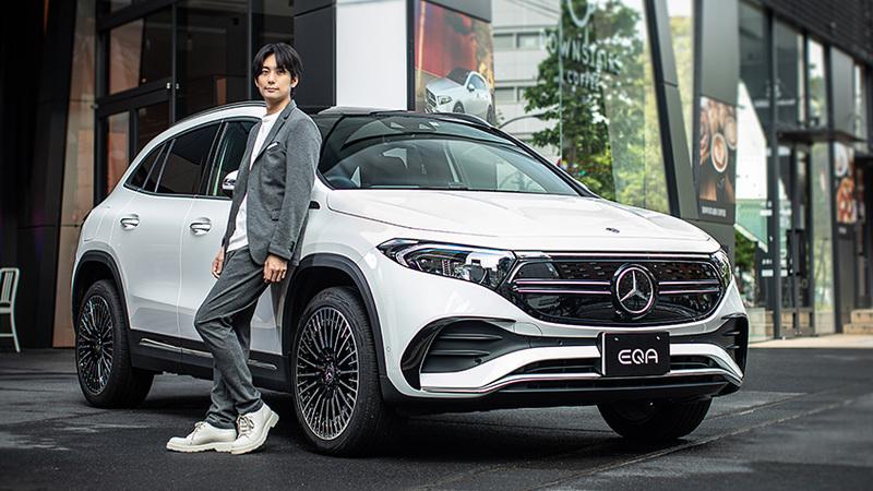 俳優 平岡祐太、メルセデスの電気自動車「EQA」に試乗 「EVへのイメージががらっと変わりました」