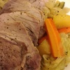 塩豚と野菜のビネガー蒸し煮〜子供の作品を飾ってから保管、処分するまで。