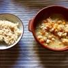 【朝ご飯】ひよこ豆のレモンスープとアサリとカブの酒蒸し