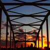 東四ツ木避難橋夕暮れが、インスタ映える