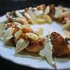 白桃とイチジクとモツァレラのサラダ、バルサミコソースかけ