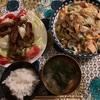 冷凍こんにゃくの生姜焼き乗せサラダ