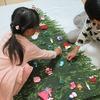 どうにか間に合った布製クリスマスツリー。