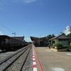 カンチャナブリー駅へ、クウェー川駅からサイクリング(Kanchanaburi / カンチャナブリー)