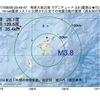 2017年08月09日 03時49分 奄美大島近海でM3.8の地震