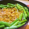 桜エビとアスパラガスのサフラン入り炊きこみご飯