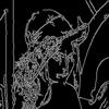 【OpenCV】 画像にエッジ検出フィルタを適用する(Cannyフィルタ)
