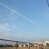 2月の飛行機雲