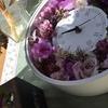 お部屋に飾りたい❣️紫色の 花時計