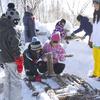 森のお遊び会 11月 雪上焚き火でランチ