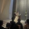 孫の結婚式へ