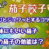 【レシピ】つくねと茄子の餃子!ふっくらジューシーにするコツはこちら!