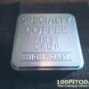 """セリアの""""お洒落でカッコいい""""スチール製コーヒー缶。"""