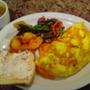 Omelet  and stir-fry