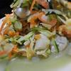 シリシリにんじんとズッキーニ、じゃがいもの海鮮サラダ