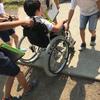 車椅子体験サポート(伊東市立南小学校)