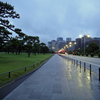 Shower run in the Imperial Palace