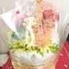 Das Bärchen ist auch dem Omuzu Kuchen./おむつケーキ