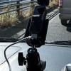 OSMO POCKET用の三脚台ホルダを用いて車載