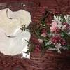 安産祈願の授与腹帯で作った 白レーススタイ