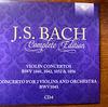 バッハ全集 全部聞いたらバッハ通 CD4 BWV1041,1042,1052,1056 バイオリン協奏曲