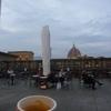冬のイタリア「ひとりで滞在するフィレンツェ旅!ウフィッツィの楽しみ方。テラスでエスプレッソ」