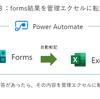 power automate初心者のささやかな業務改善の記録① アンケートをFormsで行い、Excelに自動転記させる