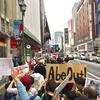 #AbeOut1019 デモの時間には雨があがり…