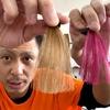 【エンシェールズカラーバター】フラッシュピンクでブリーチなしの茶髪に染めてみた