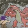 ドラゴンを水彩ブラシで塗ってみた