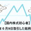 【国内株式初心者】2021年6月9日取引した銘柄の記録