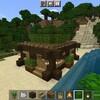ダークオークの幹と葉を有効活用した建築【マイクラ】