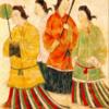 唐、ウイグル、モンゴル、高句麗、倭国の絵