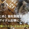 【まとめ】猫を飼育するためのアイテム記事について
