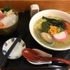 四季鮮の磯ラーメンとミニ海鮮丼