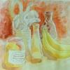2018年: 『抽象化してみよう - 花瓶・ジャー・バナナ』 -(1)