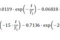 NMR-T1(縦緩和率)のフィッティング式のメモ