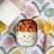 たっぷり野菜スープつき!パプリカ&ソーセージで作る顔弁