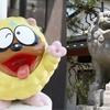氷見市のまんがロード沿いにある日宮神社の狛犬が獅子丸に似ている気がする