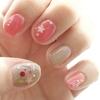 ネイルフレーク と おもいっきりピンク の 春ネイル