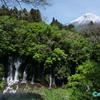 富士山と滝  ― 先行画像 ―