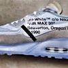 """【速報】OFF-WHITE™x Nike Air Max 90 """"Ice"""" リーク画像"""