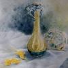 2017年:9月『質感の違いを表現 - ブルーのガラス花瓶とガラス製浮き』