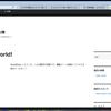 自分用のドメインを取得して、サイト創りに挑戦し始めました。