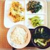 卵、ナス、小松菜を主に使った料理の紹介です(^▽^)/